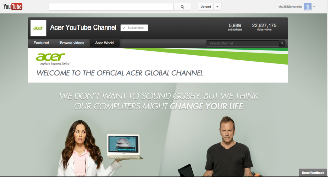 Acer Youtube